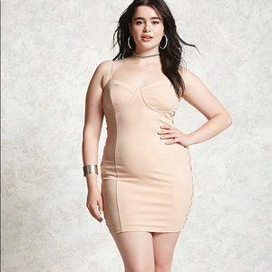 Plus Size Bodycon Cami Peach Dress